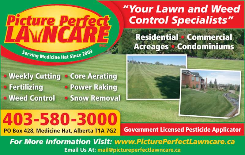 Picture Perfect Lawn Care - Opening Hours - 622 16 St SW, Medicine ...