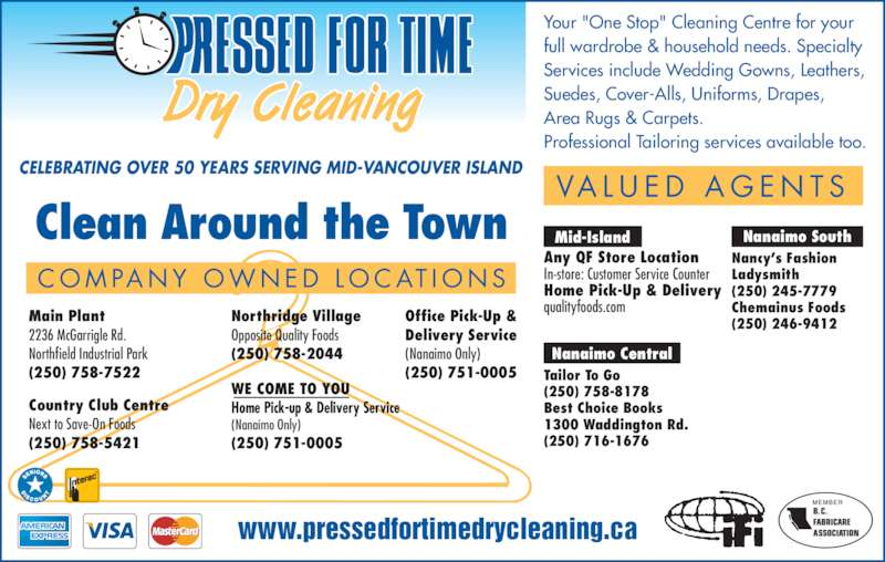 Pressed For Time Dry Cleaning Opening Hours 2236