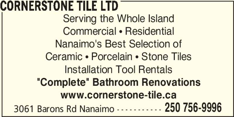 Cornerstone Tile Ltd Nanaimo BC 3061 Barons Road Canpages