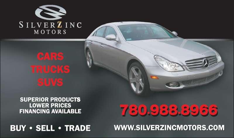 Silverzinc Motors (780-988-8966) - Display Ad -
