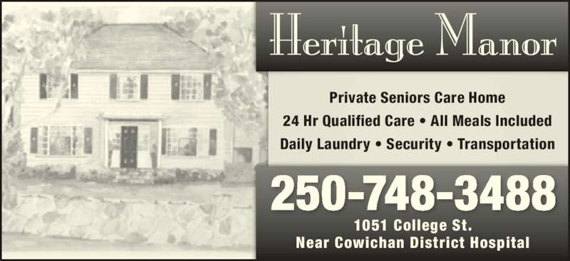Heritage Manor Duncan Bc 1051 College St Canpages