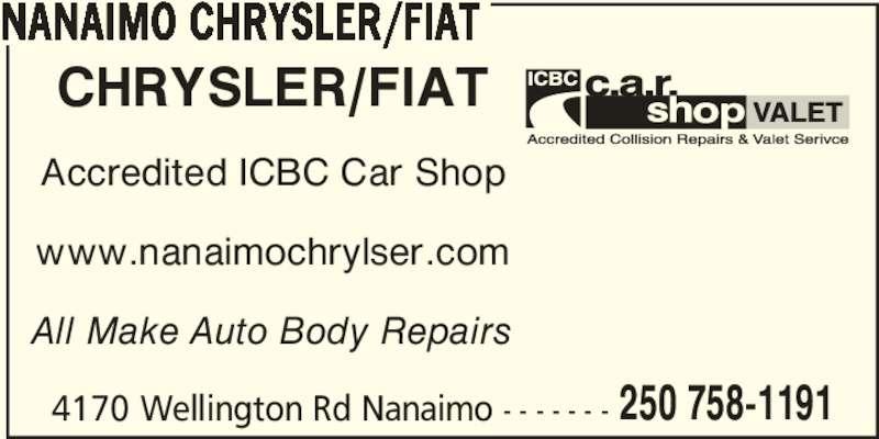 Nanaimo Chrysler Ltd Nanaimo Bc 4170 Wellington Rd Canpages