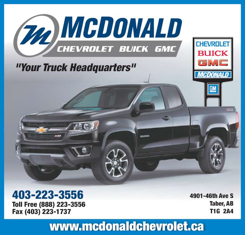 Mcdonald Chevrolet Buick Gmc In Taber