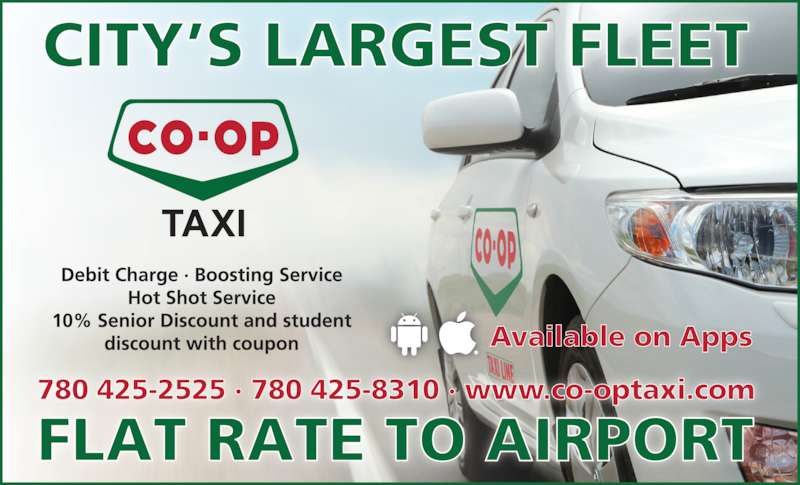 Co-op Taxi Line (780-425-2525) - Display Ad -