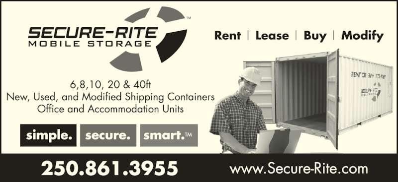 Secure-Rite Mobile Storage (2508613955) - Display Ad -