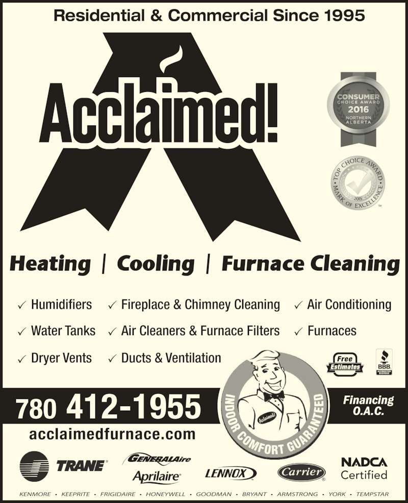 Acclaimed Heating Cooling Amp Furnace Cleaning Edmonton