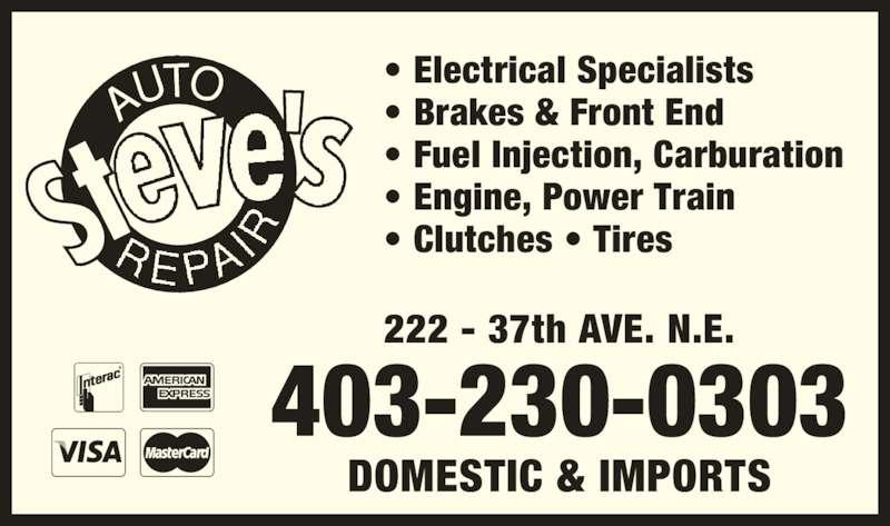 ad Steve's Auto Repair