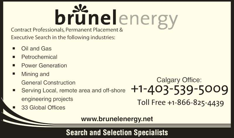 Brunel Energy Canada Inc - Energy Etfs