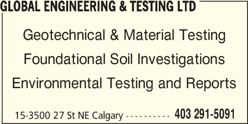 ad Global Engineering & Testing Ltd