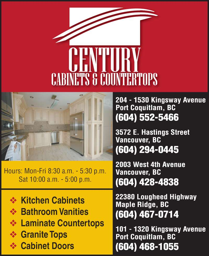 Kitchen Cabinets Kingsway Port Coquitlam Bc