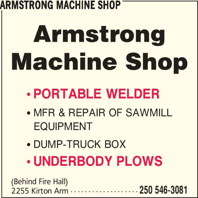 opening a machine shop