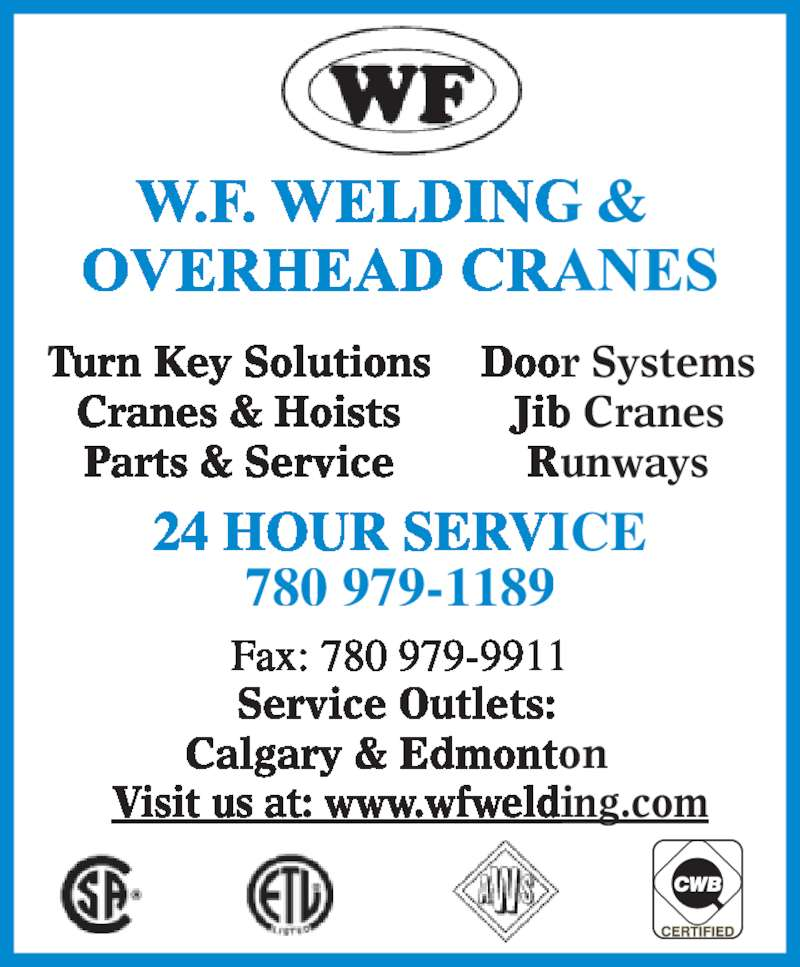 W f welding overhead cranes ltd nisku ab 602 22 ave for 24 hour tanning salon near me
