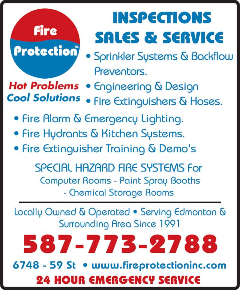 Fire Protection Opening Hours 6748 59 St Nw Edmonton Ab