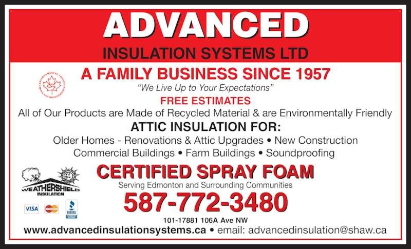 Roofing Contractors Concord Ca Advanced Insulation Systems Ltd - Edmonton, AB - 101-17881 ...