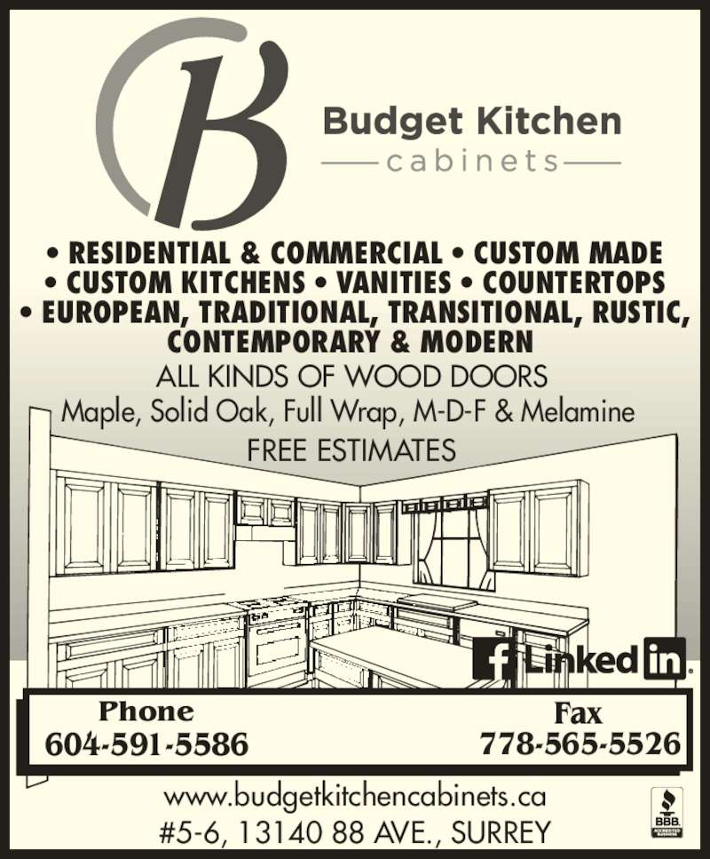 budget kitchen cabinets ltd - opening hours - 6-13140 88 ave