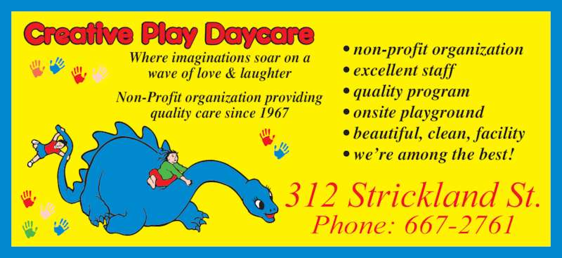 Creative Play Daycare - Opening Hours - 312 Strickland St ...