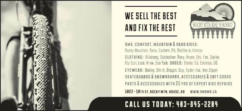 Rocky Mtn Bike N' Board (403-845-2204) - Display Ad -