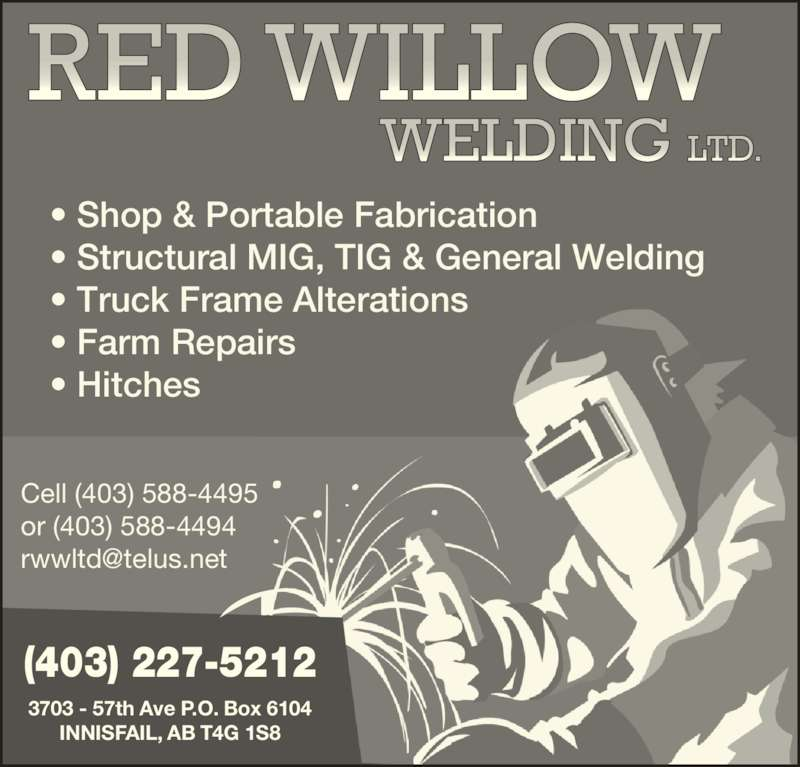 Red Willow Welding Ltd Innisfail Ab 3703 57 Ave