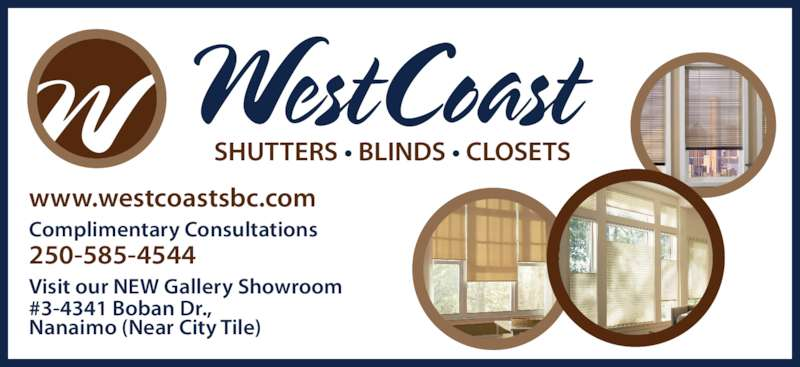 West Coast Shutters Nanaimo Bc 3 4341 Boban Dr Canpages
