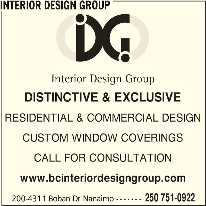 Interior Design Group Nanaimo Bc 200 4311 Boban Dr Canpages