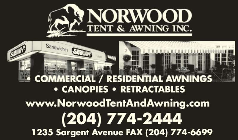 Norwood Tent & Awning Inc - Winnipeg, MB - 1235 Sargent ...