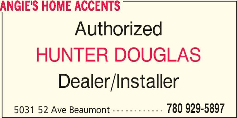 Angie's Home Accents (780-929-5897) - Annonce illustrée======= -