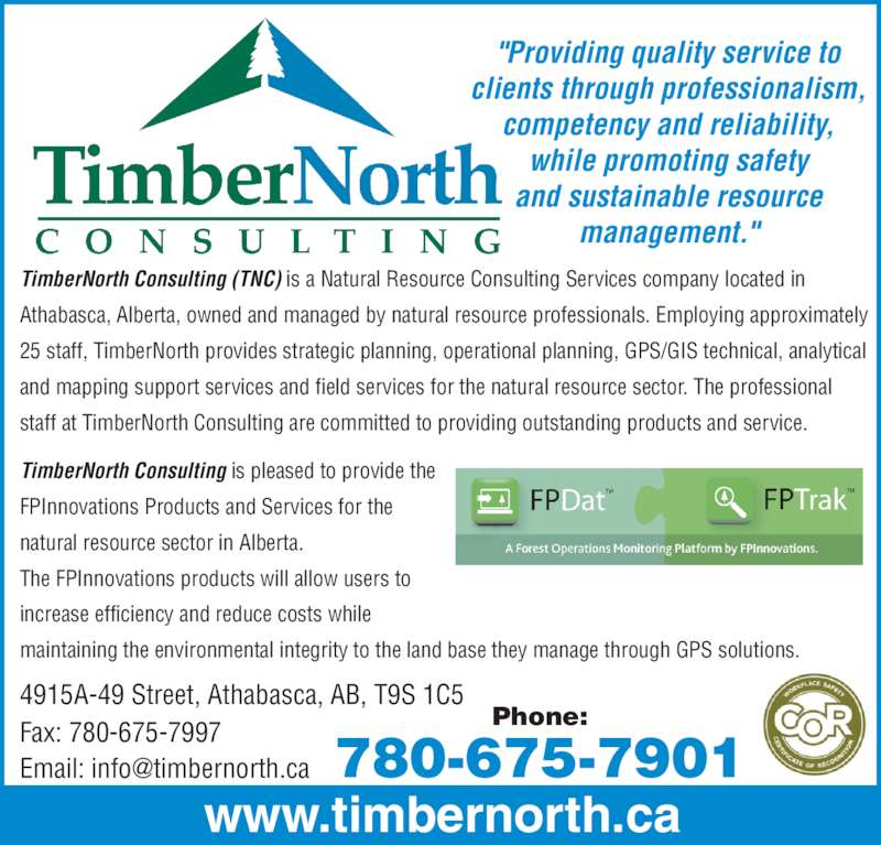 Timbernorth Consulting  Display Ad Phone