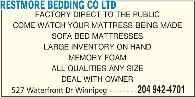 Restmore Bedding Co Ltd (2049424701) - Annonce illustrée======= -