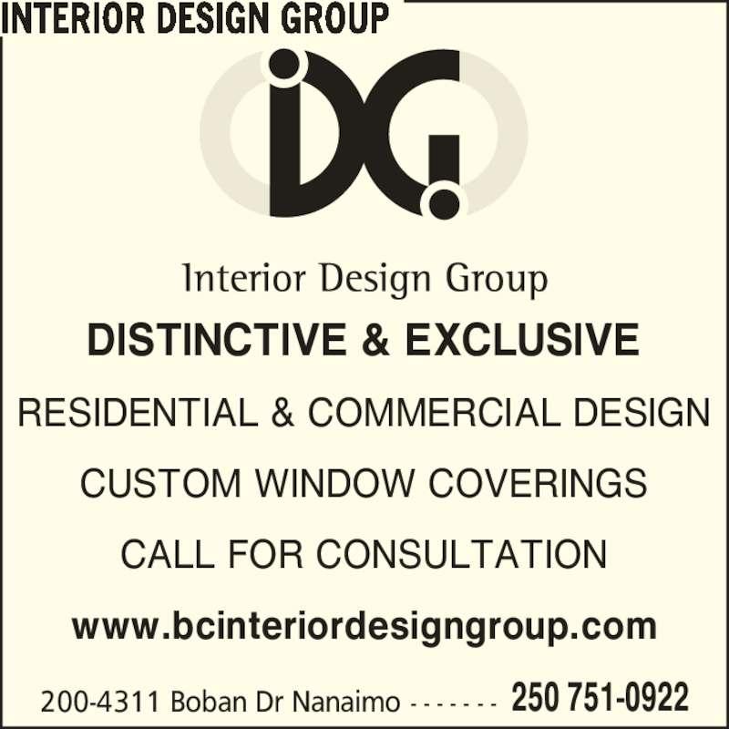 Interior design group nanaimo bc 200 4311 boban dr for Interior design group