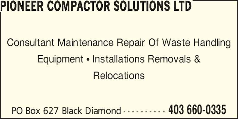 ad Pioneer Compactor Solutions Ltd