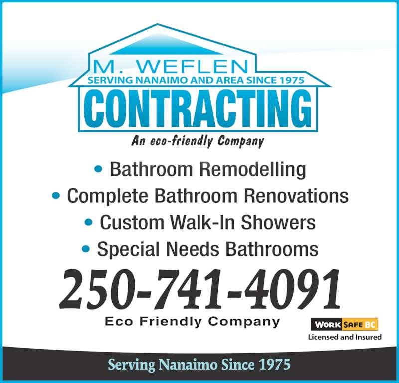 M Weflen Contracting Ltd Nanaimo Bc 1813 Northfield