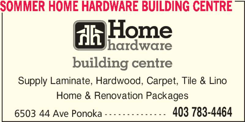 Sommer Home Hardware Building Centre Ponoka Ab 6503