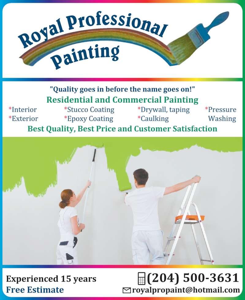Royal Professional Painting (204-997-0069) - Display Ad -