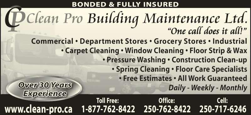 Clean Pro Building Maintenance Ltd Canpages