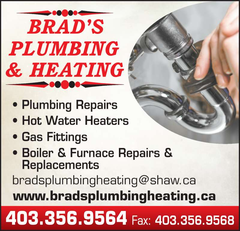 Brads Plumbing & Heating Ltd (403-356-9564) - Display Ad -
