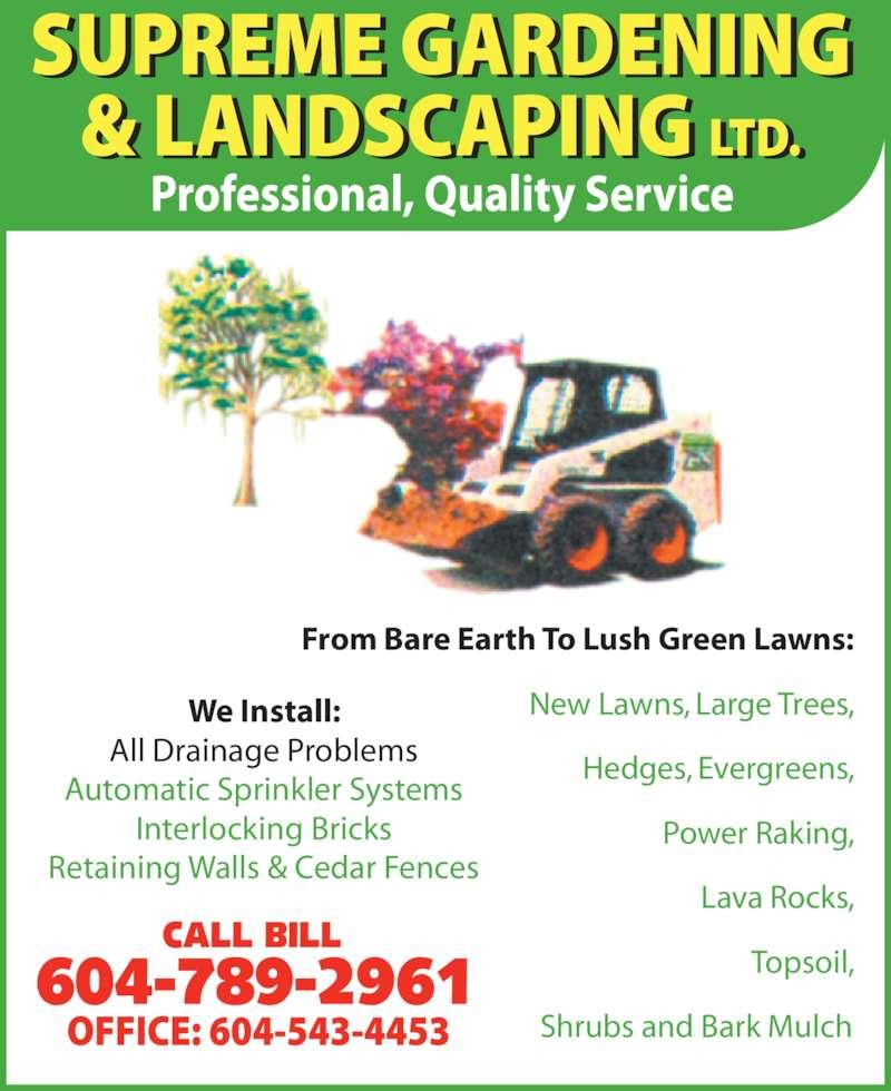 Supreme Gardening Amp Landscaping Ltd Surrey Bc 8563