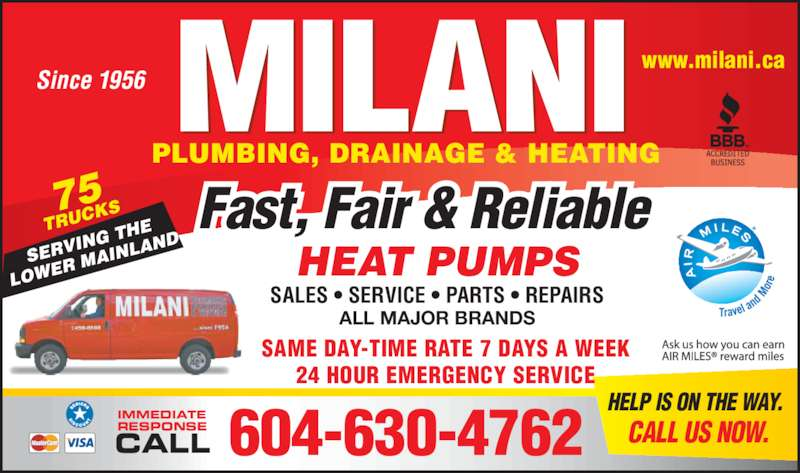 Milani Plumbing, Drainage & Heating - Burnaby, BC - 5526 ...