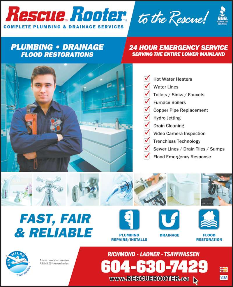 ad Rescue Rooter Plumbing & Drain Service Inc