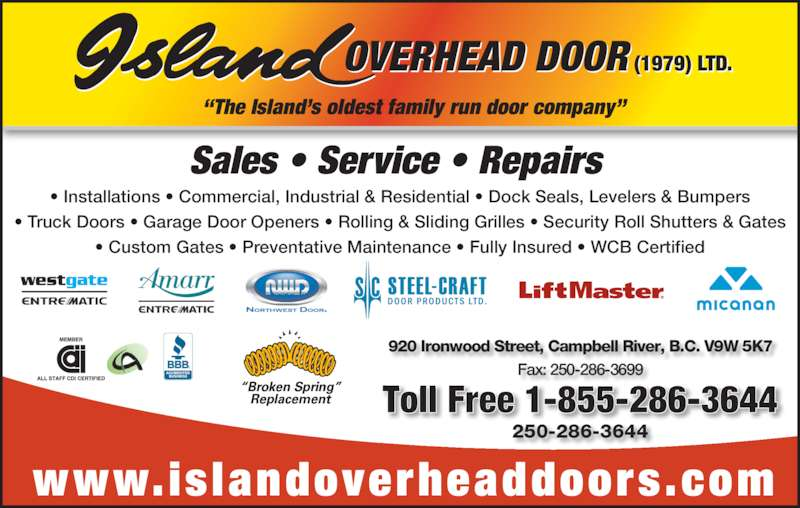 Island Overhead Door 1979 Ltd Campbell River BC 920