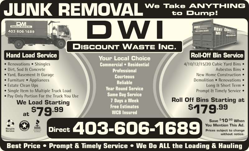 ad Discount Waste Inc