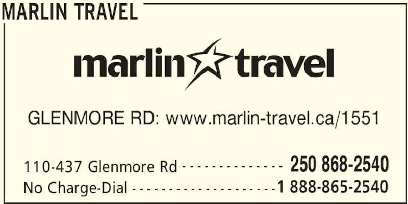 ad Marlin Travel Kelowna