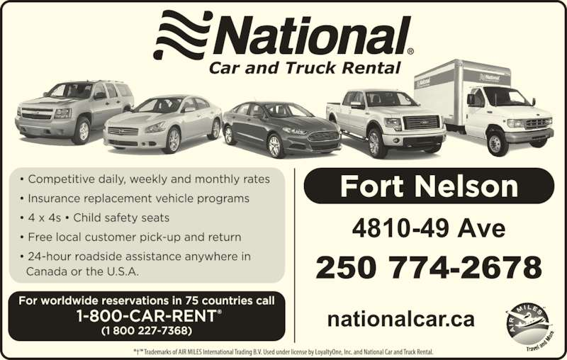 Car Rental Fort Nelson Bc