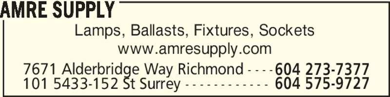 Amre Supply Richmond Bc 100 7671 Alderbridge Way