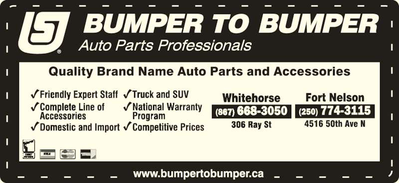 Bumper to Bumper (250-774-3115) - Display Ad -