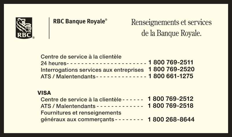 RBC Banque Royale (8007692511) - Annonce illustrée======= -