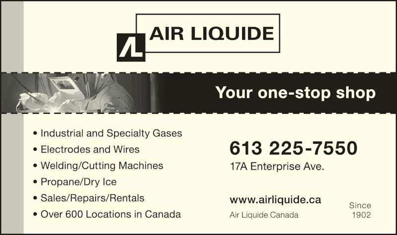 Air Liquide Canada Inc (613-225-7550) - Display Ad -