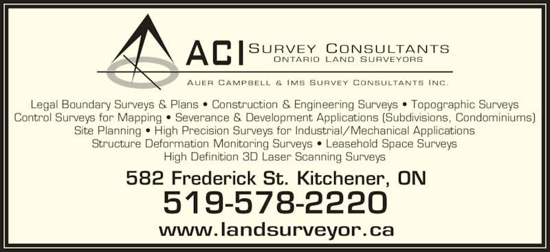Auer Campbell Amp Ims Survey Consultants Inc Kitchener On