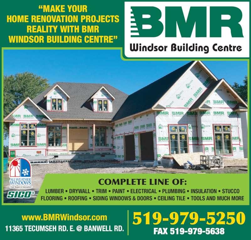 Bmr Windsor Building Centre Windsor On 11365 Tecumseh