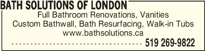 Bathroom Renovations Woodstock Ontario bath solutions of london - opening hours - 14475 putnam