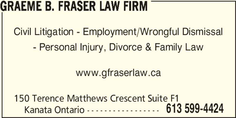Ads Fraser & Smith Law Offices